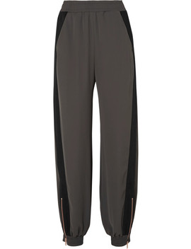Gabardine Paneled Twill Pants by See By Chloé