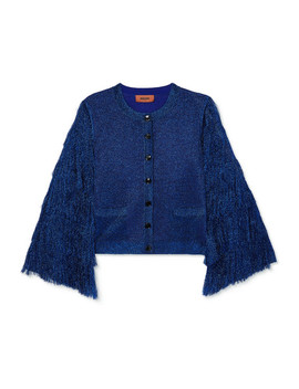 Fringed Metallic Knitted Cardigan by Missoni