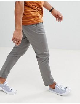 Burton Menswear – Graue Chinohose In Karottenform by Burton Menswear London
