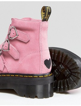 Dr Martens X Lazy Oaf Boots In Pink by Dr Martens