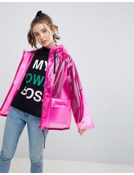 Asos Design Rain Jacket With Contrast Binding by Asos Design