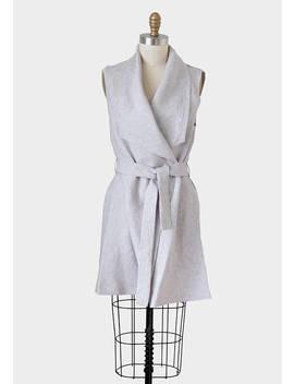 Women's Linen Vest, Women's Linen Sleeveless Jacket, Sleeveless Jacket, Linen Vest, Women Drape Jacket, Drape Vest, Linen Wrap Dress, Linen by Etsy