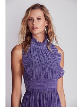 Pleated Shine Fit & Flare Mini Dress by Free People