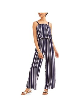 Time And Tru Women's Woven Jumpsuit by Time And Tru
