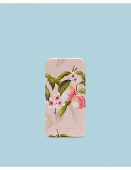 Peach Blossom I Phone X Book Case by Ted Baker