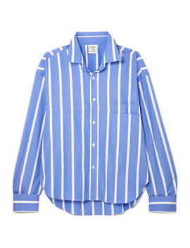 Oversized Striped Cotton Poplin Shirt by Vetements