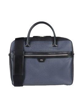 Men's Blue Work Bags by Class Roberto Cavalli