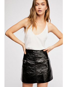 Vegan Patent Leather Skirt by Free People