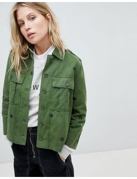 Whistles Star Embroidered Utility Shirt by Whistles