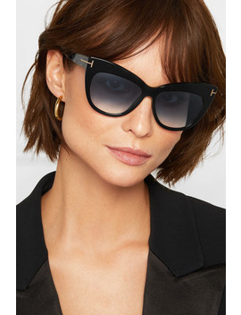 Nika Cat Eye Acetate Sunglasses by Tom Ford