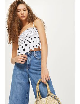 Petite Mix Spot Camisole Top by Topshop