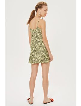 Petite Ditsy Knot Front Slip Dress by Topshop