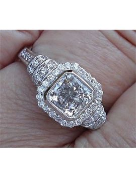 Estate Michael Beaudry 1 Ct. Diamond Ring 14 K White Gold         Nr = No Reserve by Beaudry