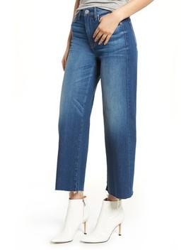 Holly High Waist Raw Hem Crop Wide Leg Jeans by Hudson Jeans