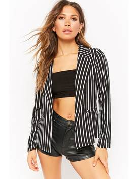 Lightweight Striped Blazer by Forever 21