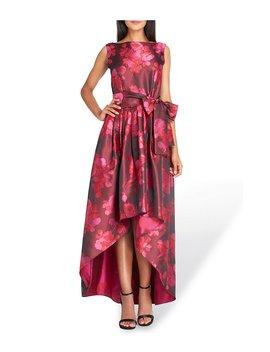 Metallic Jacquard Fit And Flare Dress by Tahari Asl