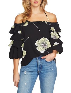 Tiered Sleeve Off The Shoulder Top by 1.State