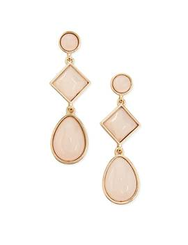 Tiered Faux Stone Drop Earrings by F21 Contemporary