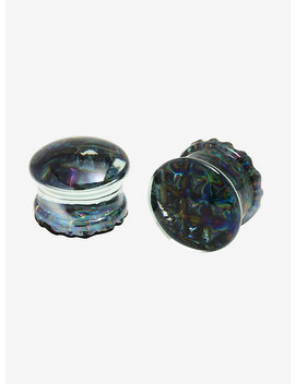 Glass Waffle Back Rainbow Plugs 2 Pack by Hot Topic