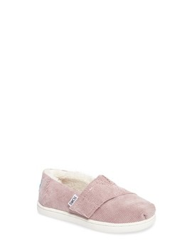 Classic   Tiny Herringbone Faux Shearling Lined Slip On by Toms
