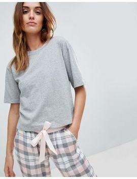 Asos Design Mix & Match Grey Marl Pyjama Tee by Asos Design