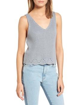 Crop Sweater Tank by Cotton Emporium