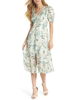 Botanical Garden Print Midi Dress by Gal Meets Glam Collection