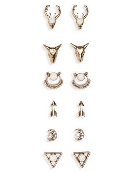 6 Pack Western Earrings by Bp.