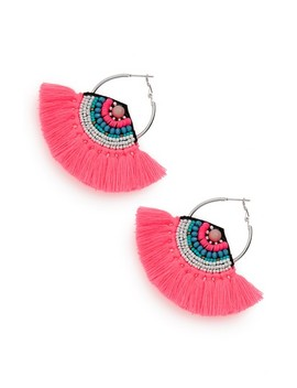 Fringe Hoop Earrings by Bp.