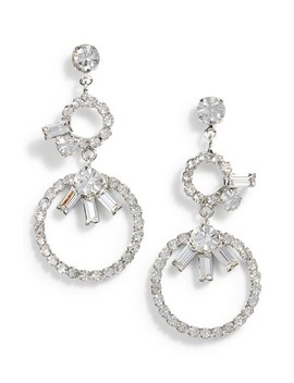 Crystal Double Loop Drop Earrings by Cristabelle