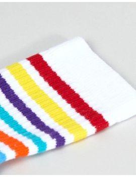 Asos Design Rainbow Stripe Ankle Socks by Asos Design