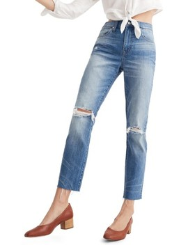 Ripped High Waist Slim Boyfriend Jeans by Madewell