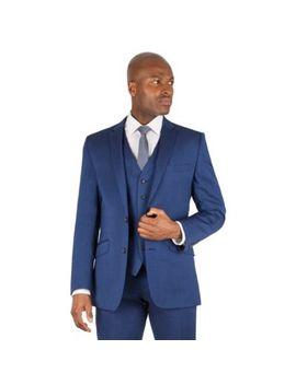 Ben Sherman   Bright Blue Plain 2 Button Front Slim Fit Kings Suit Jacket by Ben Sherman