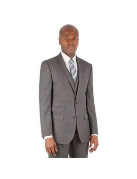 Ben Sherman   Grey Jaspe Check 2 Button Front Slim Fit Kings Suit Jacket by Ben Sherman