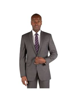 Ben Sherman   Mid Grey Pindot 2 Button Front Slim Fit Kings Suit Jacket by Ben Sherman