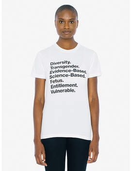 Unisex Words Matter 50/50 T Shirt by American Apparel