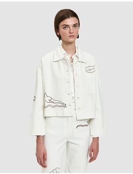 Uma Jacket In White by Need Supply Co.