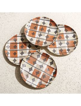 Corin Geo Melamine Salad Plates, Set Of 4 by Crate&Barrel