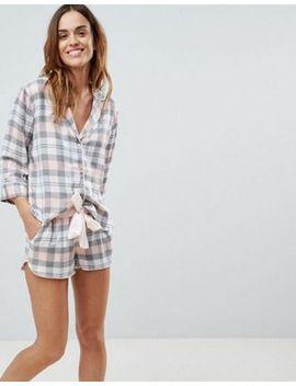 asos-design-mix-&-match-check-pyjama-short-set by asos