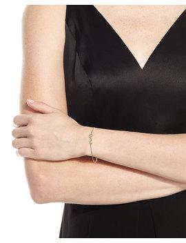 Monogram Golden Chain Bracelet by Saint Laurent