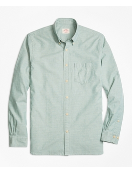 Cotton Chambray Sport Shirt by Brooks Brothers