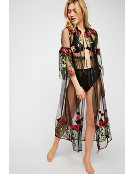Desert Rose Embroidered Kimono by Free People