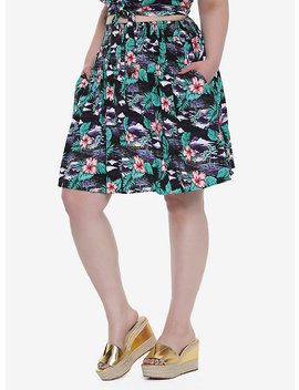 Tropical Print Skirt Plus Size by Hot Topic