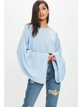 Blue Cropped Sweater by Missguided