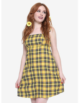 Yellow Plaid Cami Dress by Hot Topic