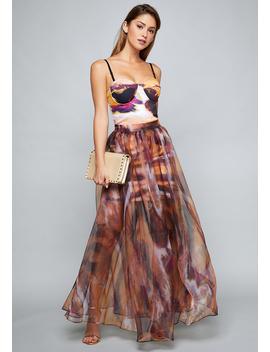 Organza Maxi Skirt Dress by Bebe