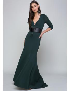 3/4 Sleeve Mermaid Gown by Bebe
