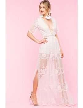 Embroidered Mesh Maxi Dress by A'gaci