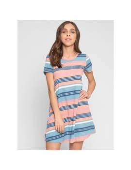 Candy Island Multi Stripe Dress by Wet Seal