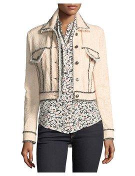 Vita Cropped Tweed Jacket by Veronica Beard